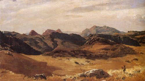 A Mountainous Landscape Spain | Sir Frederick Lord Leighton | oil painting
