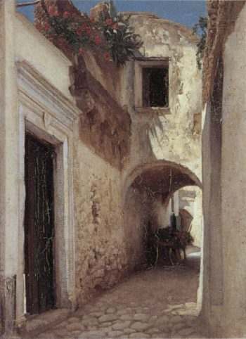 A Street Scene Capri | Sir Frederick Lord Leighton | oil painting