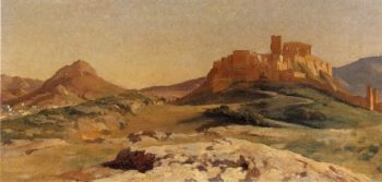 Athens with the Genoese Tower Pnyx in the Foreground | Sir Frederick Lord Leighton | oil painting
