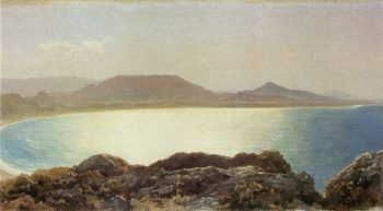 Bay Scene Island of Rhodes | Sir Frederick Lord Leighton | oil painting