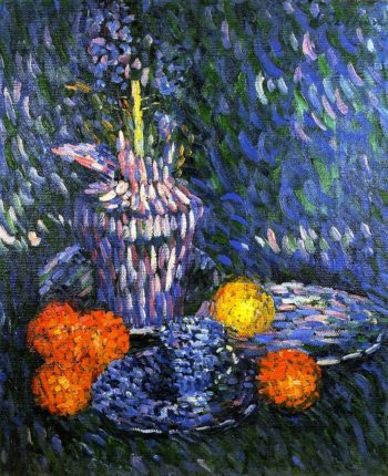Still Life with Hyacinth and Oranges | Alexei Jawlensky | oil painting