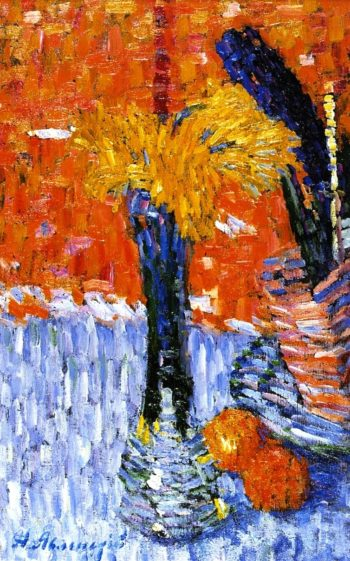 Still Life with Vase and Yellow Narcissi | Alexei Jawlensky | oil painting