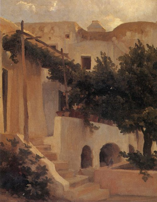 Garden of a House at Capri | Sir Frederick Lord Leighton | oil painting