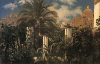 Garden of an Inn Capri | Sir Frederick Lord Leighton | oil painting