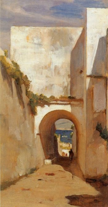 Gateway Algiers | Sir Frederick Lord Leighton | oil painting