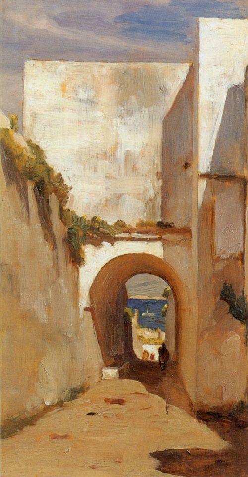 Gateway Algiers   Sir Frederick Lord Leighton   oil painting