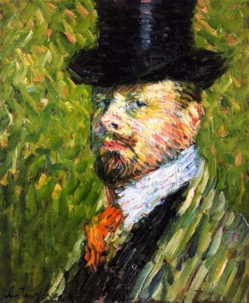 Self Portrait in Top Hat | Alexei Jawlensky | oil painting