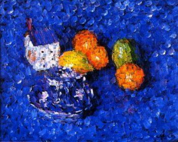 Still LIfe Blue Orange | Alexei Jawlensky | oil painting