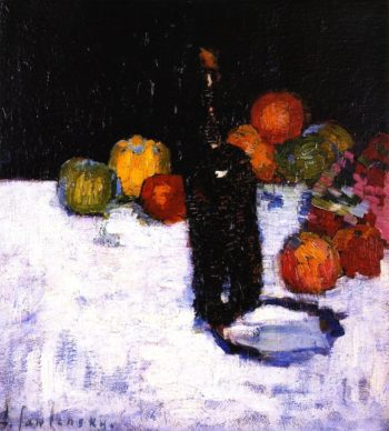Still Life with Bottle and Apples | Alexei Jawlensky | oil painting
