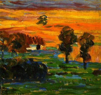 Sunset | Alexei Jawlensky | oil painting