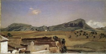 Mountains Near Ronda Puerta de los Vientos | Sir Frederick Lord Leighton | oil painting
