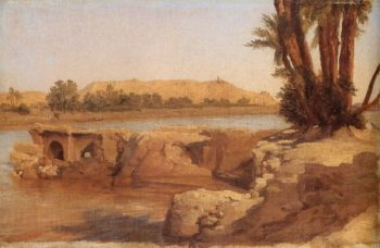 Nile Landscape | Sir Frederick Lord Leighton | oil painting