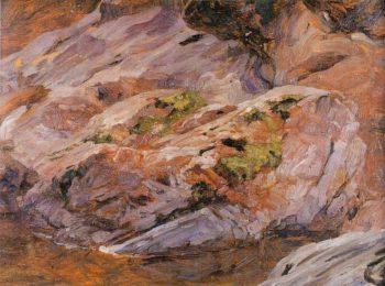 Pink Granite Boulders Findhorn River | Sir Frederick Lord Leighton | oil painting