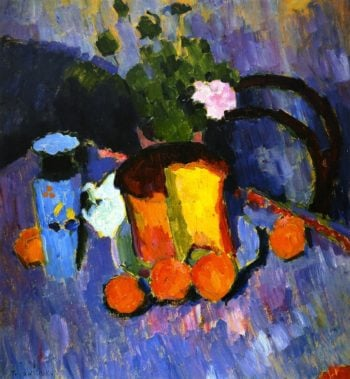 Still LIfe with Kulich | Alexei Jawlensky | oil painting