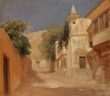 Richard and Isobel Burtons House in Damascus | Sir Frederick Lord Leighton | oil painting
