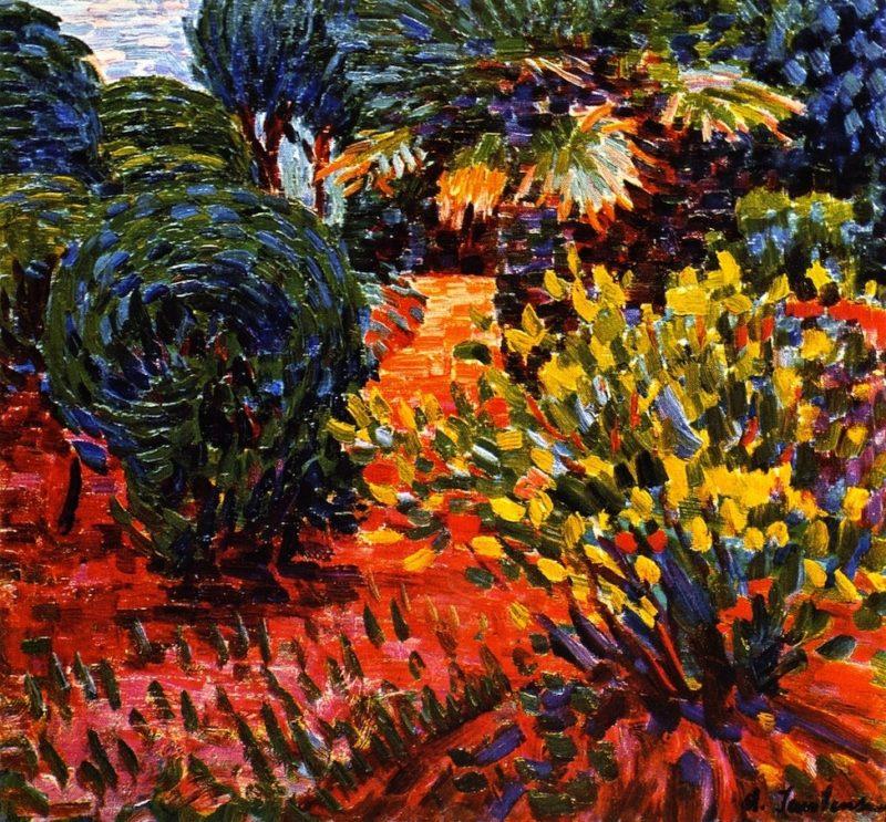 Garden at Carantec | Alexei Jawlensky | oil painting