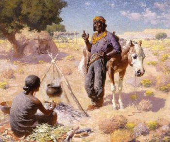 Navajo Courtship | William Robinson Leigh | oil painting
