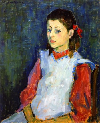 Girl in White Apron | Alexei Jawlensky | oil painting