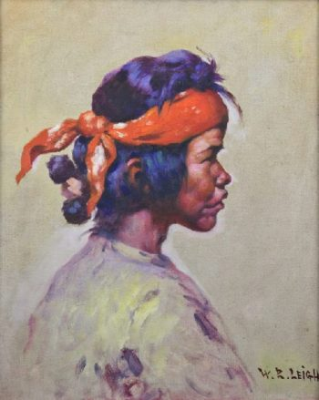 Navajo Shepherd Boy | William Robinson Leigh | oil painting