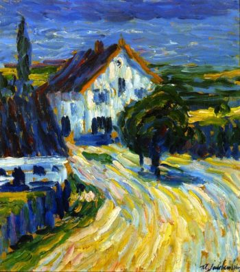 Houses in Wasserburg on the InnPrivate collection   Alexei Jawlensky   oil painting