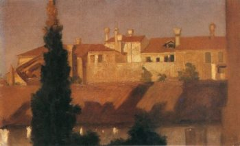 Study of House Venice | Sir Frederick Lord Leighton | oil painting