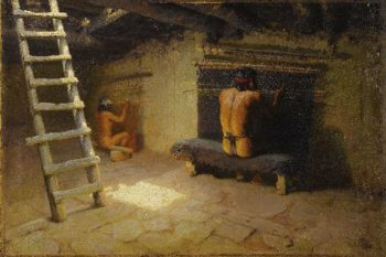 Navajos Weaving | William Robinson Leigh | oil painting