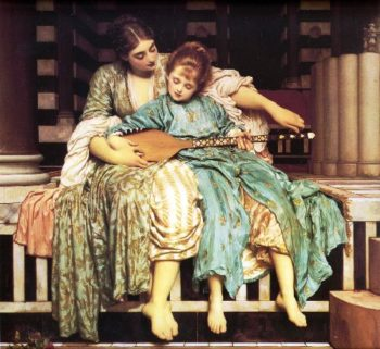 The Music Lesson | Sir Frederick Lord Leighton | oil painting