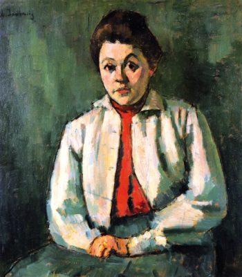 Helene in Red Waistcoat   Alexei Jawlensky   oil painting