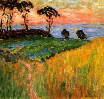 Landscape near Marseille   Alexei Jawlensky   oil painting