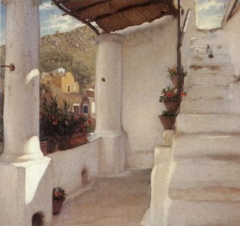 The Staircase of a House at Capri | Sir Frederick Lord Leighton | oil painting