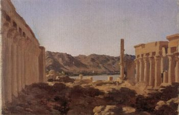 The Temple at Philae | Sir Frederick Lord Leighton | oil painting