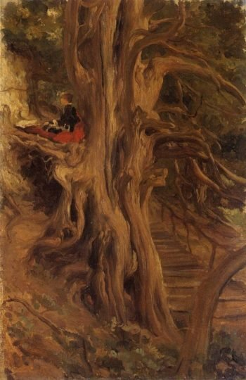 Trees at Cliveden | Sir Frederick Lord Leighton | oil painting