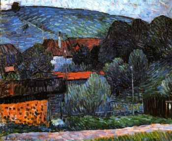 Melancholy in the Evening   Wasserburg on the Inn | Alexei Jawlensky | oil painting