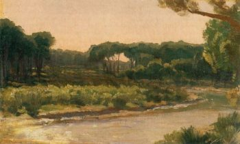 View on the Arno | Sir Frederick Lord Leighton | oil painting