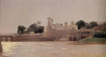 View on the Nile at Asyut | Sir Frederick Lord Leighton | oil painting