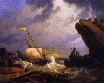 Ferryboat | Robert Salmon | oil painting