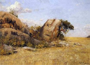 Rocks Lion Group | William Robinson Leigh | oil painting