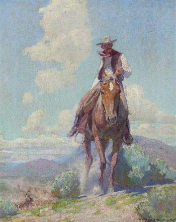 The Trail Foreman | W Herbert Dunton | oil painting