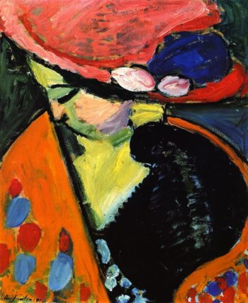 Inclined Head   Alexei Jawlensky   oil painting