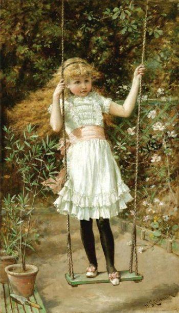 The Garden Swing | William Stephen Coleman | oil painting