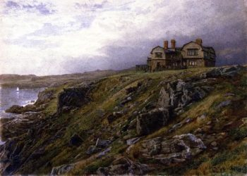 Graycliff the Artists Home Newport Rhode Island | William Trost Richards | oil painting