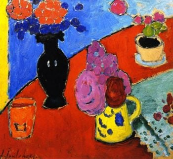 Still Life with Vase and Jug | Alexei Jawlensky | oil painting