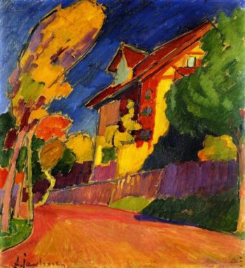 The Yellow House   Alexei Jawlensky   oil painting