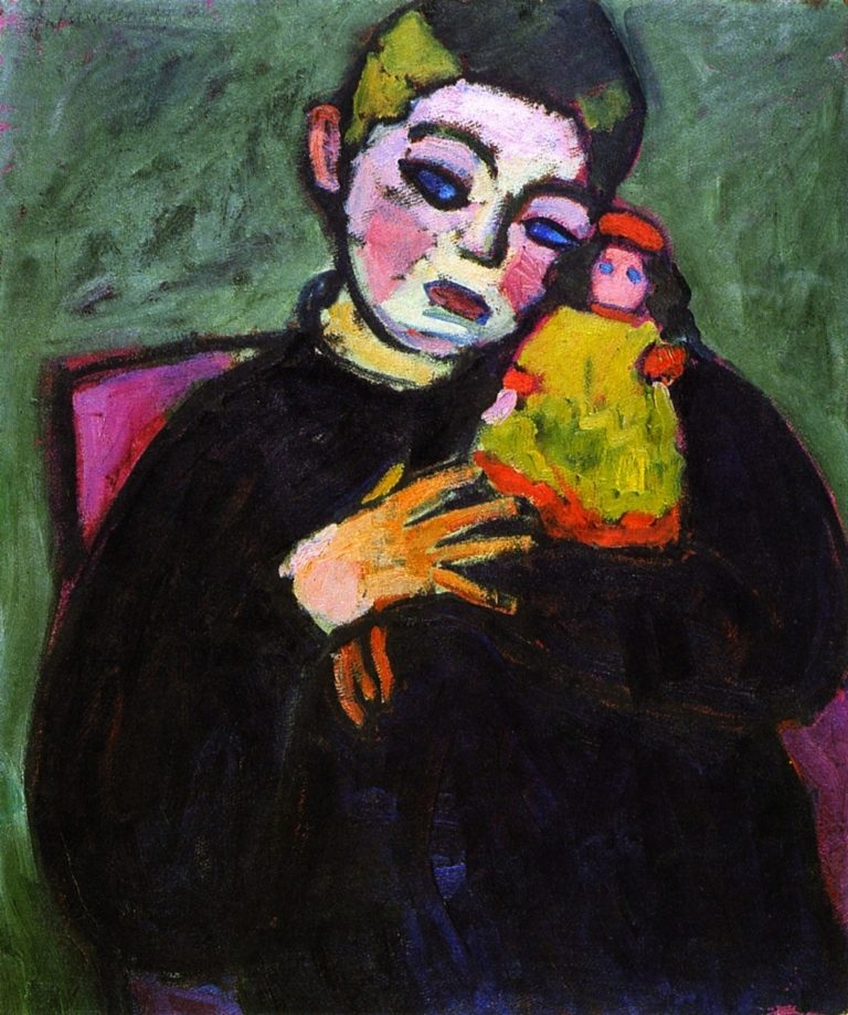 Child with Doll | Alexei Jawlensky | oil painting
