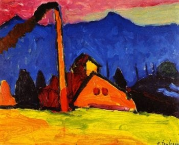 Factory at Oberau | Alexei Jawlensky | oil painting