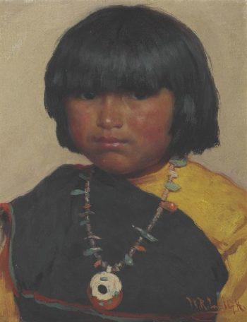 Zuni Girl | William Robinson Leigh | oil painting