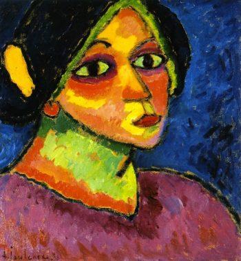 Girl in Bonnet | Alexei Jawlensky | oil painting