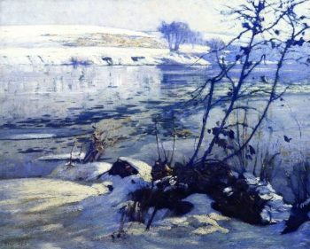 Floating Ice Early Morning | Charles Rosen | oil painting