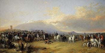 Caledonian Coursing Meeting | Richard Ansdell | oil painting