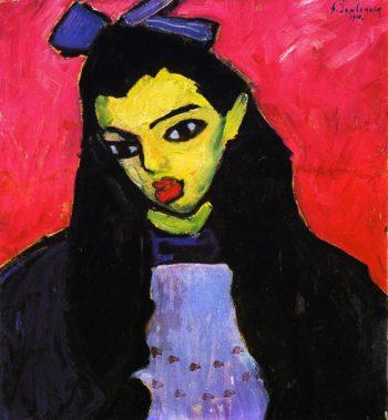 Girl with Black Hair | Alexei Jawlensky | oil painting